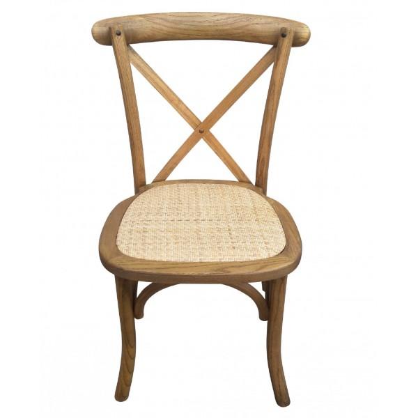 Chaise rustique vintage (dos croisé)