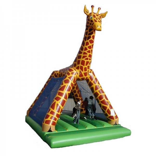 château gonflable girafe