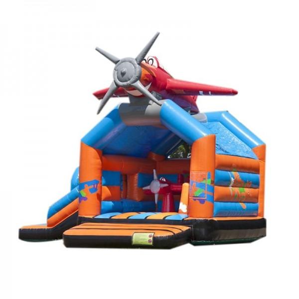 château gonflable avion