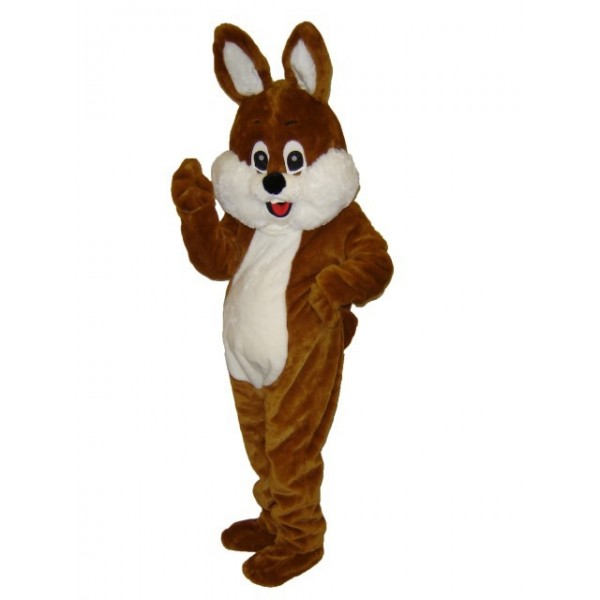 Mascotte géante lapin marron