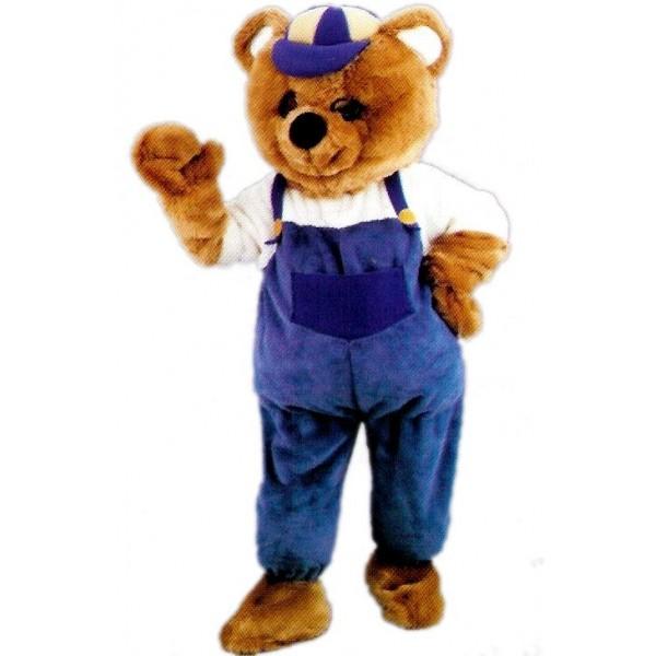 Mascotte géante ours brun