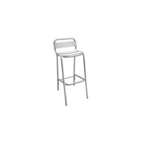 Tabouret haut en aluminium - Chaise de bar pour mange debout