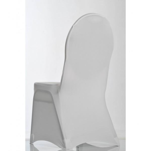 Housse de chaise lycra blanche pour chaise Miami
