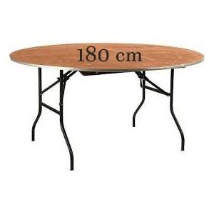 Table ronde en bois Ø 180 cm