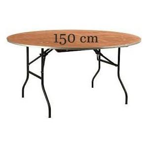 Table ronde en bois Ø 180 cm capacité - 8 à 10 personnes