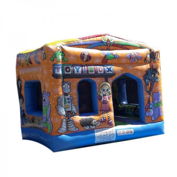 château gonflable boîte à jouets