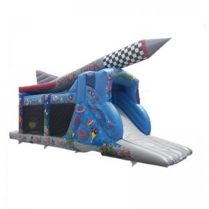 château gonflable parcours fusée spatiale
