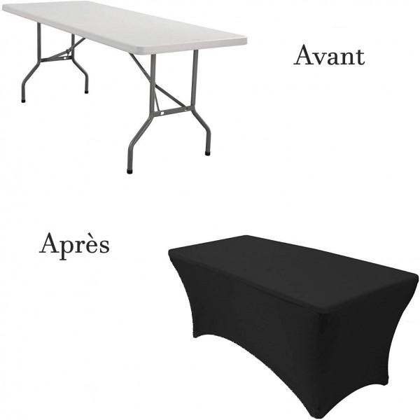 Nappe Lycra pour table rectangulaire ou buffet