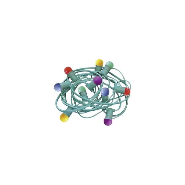 Guirlande guinguette ampoules multicolores