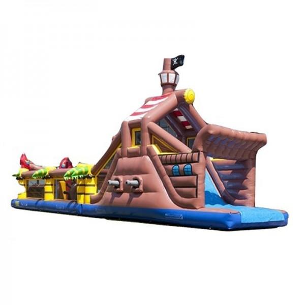 Parcours gonflable bateau pirates