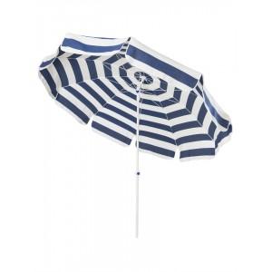 Parasol cancale rayé bleu et blanc 2 m