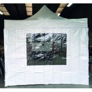 Mur blanc pour tente de réception avec fênetre- 3 x 3 m