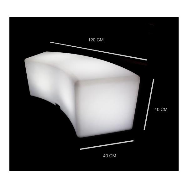 Banc lumineux à LED multicouleur sans fil