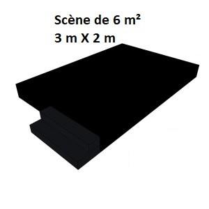 Scène de 6 m² (3 m X 2 m)