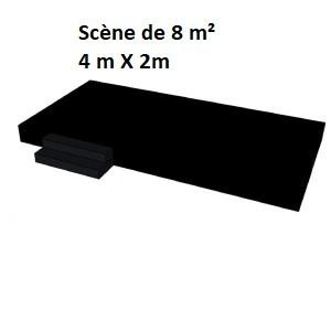 Scène de 8 m² ( 4 m X 2 m)