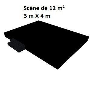Scène de 12 m² (3 m X 4 m)
