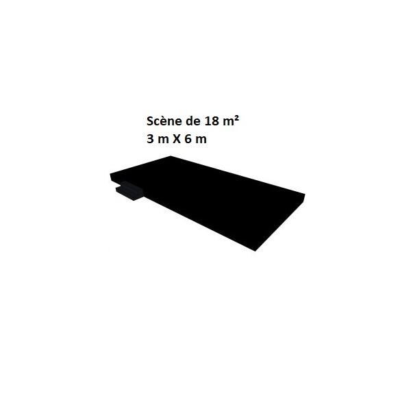 Scène de 18 m² (3 m X 6 m)