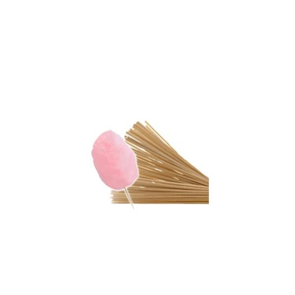 Kit sucre aromatisé fraise + bâton pour barbe à papa