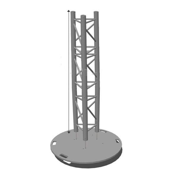 Totem structure alu 2 m
