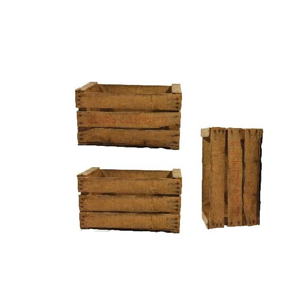Caisse en bois Vintage (lot de 3)
