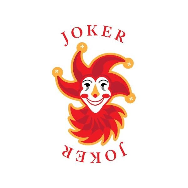 Carte de jeu joker géante