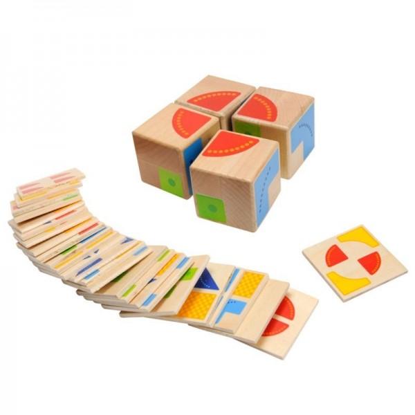 Malle de petits jeux en bois