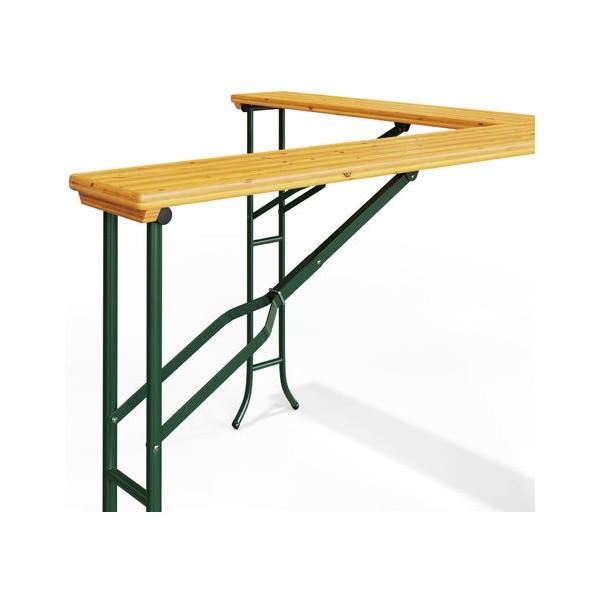 Table de réception haute pliante en bois