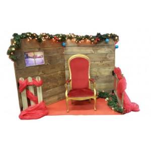 Décor maison du Père Noel