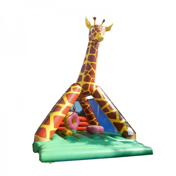 château gonflable girafe avec obstacles